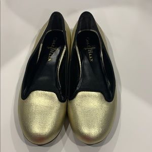 Cole Haan gold flats size 36